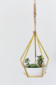 geometric hanging planter diy