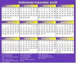 2018 new year indonesian printable calendar printable templates