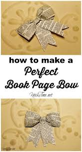 how to make a perfect book page bow knickoftime net