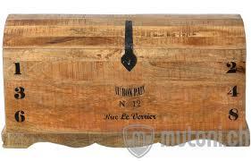 Truhe Vintage Natural Wood Natur Antik Schwarz 43x100