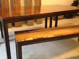 Kitchen Tables With Benches Narrow Dining Table With Bench