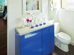Small Blue Bathrooms Small Bathroom Cabinets Hgtv