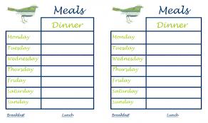 printable monthly menu planner monthly menu calendar template free