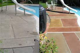 stained concrete patio before and after. Concrete Staining By Titan Stained Patio Before And After E