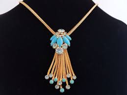 exquisite necklace with large turquoise