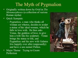 george bernard shaw and pyg on ppt  the myth of pyg on originally written down by ovid in the metamorphoses a collection of