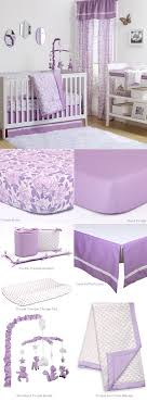 purple rose nursery bedding by peanut shell features