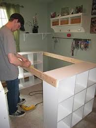 DO IT YOURSELF WHITE CRAFT DESK: HOW TO BUILD A CUSTOM CRAFT DESK {This
