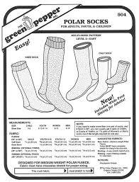Fleece Socks Pattern
