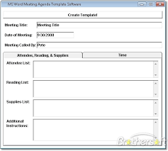 Download Free Ms Word Meeting Agenda Template Software Ms Word
