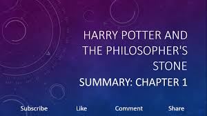 Harry potter and the philosophers stone summary