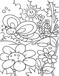 Preschool Spring Coloring Sheets Kids Spring Coloring Pages Free For