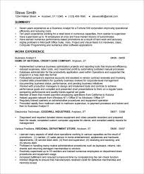 Business Analyst Resume Templates Business Analyst Resume Template