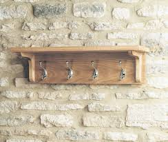 baumhaus amelie oak wall shelf with hanging pegs