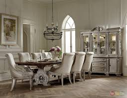 Ii White Wash Traditional Pc Formal Dining Room Furniture Set - Traditional dining room set
