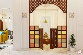 glass pooja room designs for your home