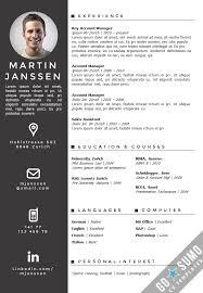 Cv Resume Template Impressive CV Template Zurich