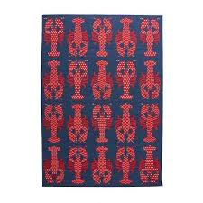 lobster blue red 8 ft x 11 ft indoor outdoor area rug
