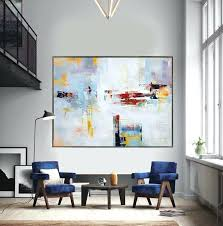 red and grey wall art extra large contemporary painting huge abstract canvas art original artwork by