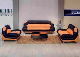 Orange Couch Living Room Orange Leather Sofa Helpformycreditcom