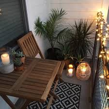 balcony lighting decorating ideas. Apartment Small Balcony Decor Ideas And Design. Garden With Candles, Lights, Tropical Plants Lighting Decorating Y