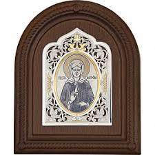 <b>Серебряная икона Святая Блаженная</b> Матрона