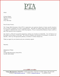 Image Of Donation Letter Template For Pta Donor Thank You Sample