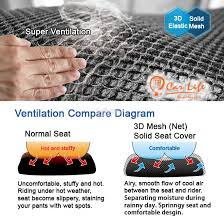 motorcycle mesh net seat cover fast drying airy cool carlife