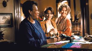 Revisiting Jocelyn Moorhouse's 'How To Make An American Quilt ... & Anna (Maya Angelou), Finn (Winona Ryder), and Hy (Ellen Burstyn) talking  love and stitchery. Adamdwight.com