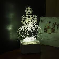 Small Picture Aliexpresscom Buy India God Lakshmi 3D Night Light USB LED Desk