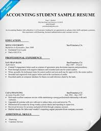Accounting Graduate Resume Student Sample
