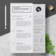 Clean Resume Template Simple Black And White Professional Resume Template For Word Cv Resume Cover Letter Instant Download Resume