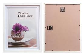 12x15 white matted wood photo frame inner mats suit 10x13 pic with