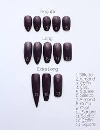 Nail Size Chart In 2019 Nails Gel Nails Almond Nails