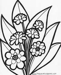 Remarkable Large Print Coloring Pages For Adults Flowers Color
