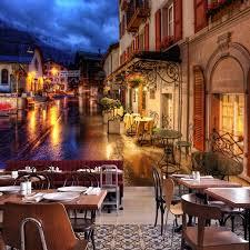 photo wallpaper italian town mural living room restaurant cafe custom wallpaper european street landscape painting mural