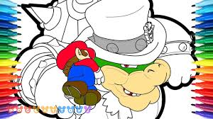 How To Draw Super Mario Odyssey Mario Vs Bowser 62 Drawing