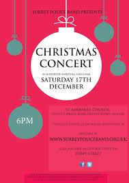 Christmas Concert Poster Surrey Police Christmas Concert Poster Farnham Town Council