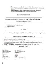 mba finance resume sample