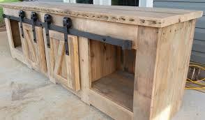sliding barn door cabinet and barn door