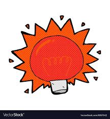 Red Light Graphic Comic Cartoon Flashing Red Light Bulb