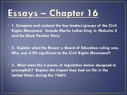 the civil rights movement ppt 4 essays chapter