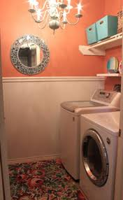 Laundry Room: Best Orange And Colored Laundry Room Design 2013 - Office Room