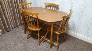 table and chair gumtree wooden dining table and 4 chairs and seat pads in barking