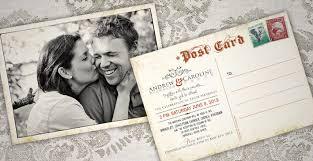 Postcard Wedding Invitations Postcard Wedding Invitations And