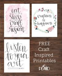 three awesome free wall decor printables awesome craft inspirations for your craft room dorm room or anything else put them in a custom diy painted  on wall art for craft room with three awesome free wall decor printables awesome craft inspirations