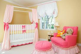 Bedroom Amusing Baby Girl Baby Room Themes With Pink Sofa Footrest