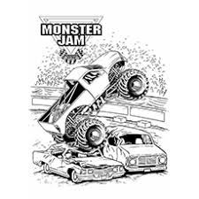 Small Picture Monster Truck Coloring Pages Gallery One Monster Jam Coloring