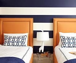 orange and blue bedroom. pin it! blue and orange boys room bhg bedroom