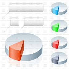Free Pie Chart Pie Chart Icons With Pointers Stock Vector Image